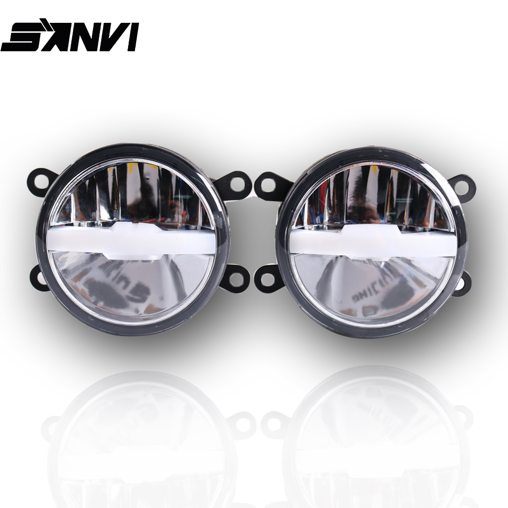 Sanvi 2 Pcs 30W 6000K/3000K Bi LED Fog  Lens 12V Fog Light With White/ Yellow Beam Dual Color Fog Lens