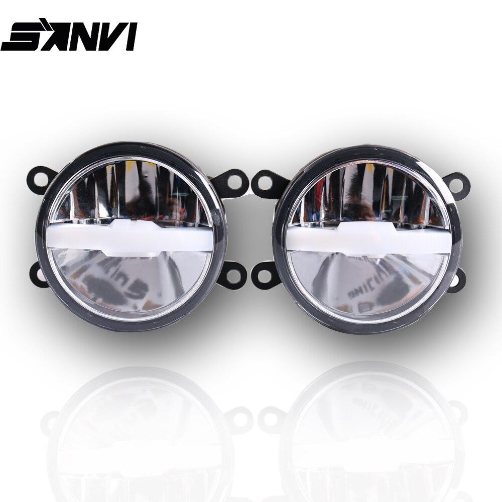 Sanvi 2 pièces 30 W 6000 K/3000 K Bi LED lentille antibrouillard 12 V avec faisceau blanc/jaune double couleur lentille antibrouillard