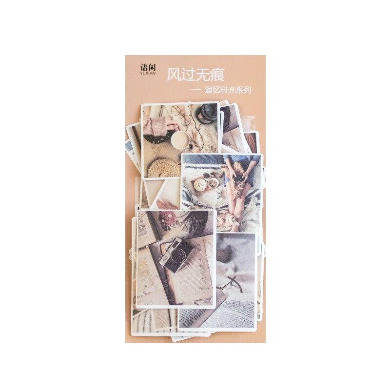 Купить с кэшбэком 60pcs/pack Vintage Paper Stickers Green Castle Planner Diary Writable Decorative Colorful Retro Scrapbooking DIY Craft Stick Lab