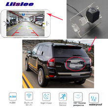 LiisLee car Rear View HD waterproof Camera For JEEP Compass 2006~2016 wireless license plate camera