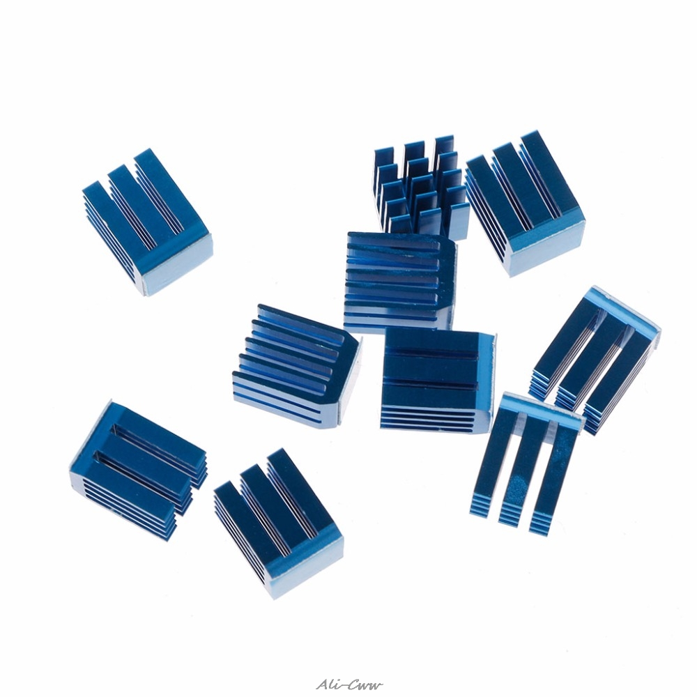 10Pcs Blue Aluminum Heatsink Stepper Motor Drive Special Cooling Heat Sink For TMC2100 For 3D Printers Printing Parts