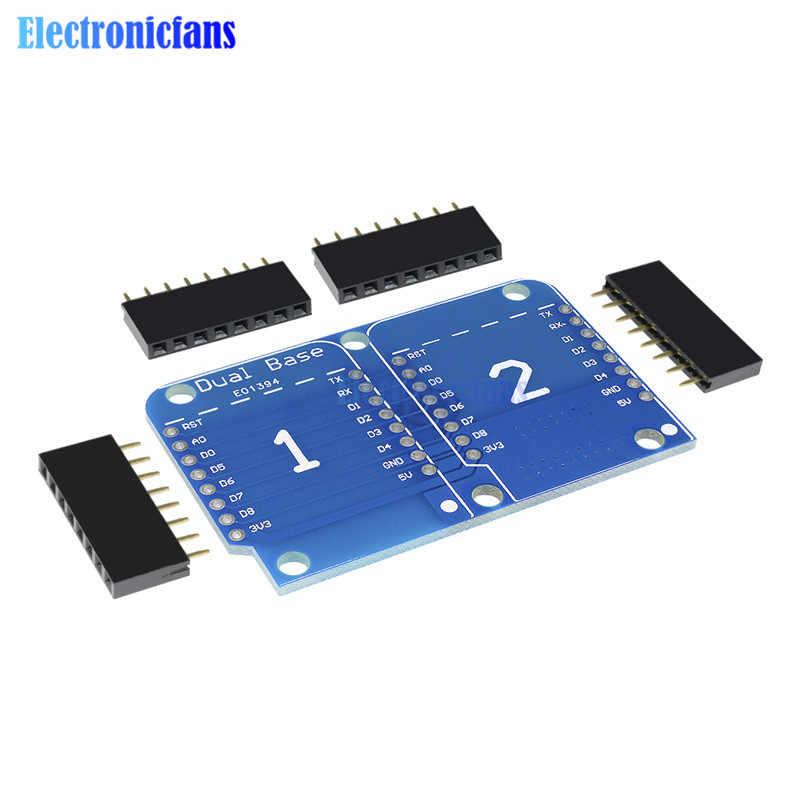 Wemos ため D1 ミニダブルソケットデュアルベースシールド D1 ミニ NodeMCU ESP8266 開発ベースボード 3.3 100% New 起源