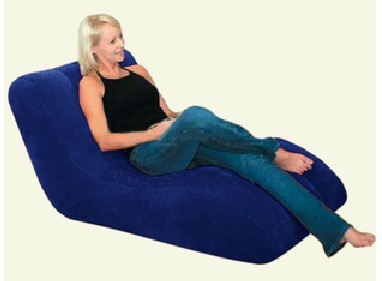 Fashion S style Inflatable sofa,Flocked PVC inflatable Sofa Chair with pump (2 colors to choose)
