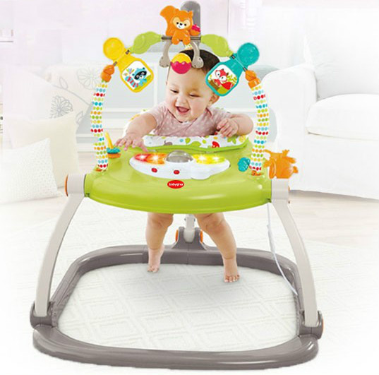 Walker Bouncing Chair Wood And Metal Dining Chairs Happy Garden Play Jumping Baby Aliexpress