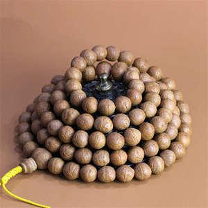 Image 2 - BRO787 Semillas de Fénix ojo Bodhi del Real nepalí, 108 cuentas de oración Mala