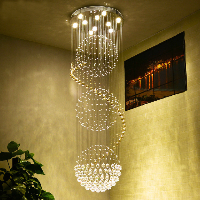 Round Ball Chandelier Living Room Modern Crystal Chandeliers Kitchen - Kitchen chandeliers and pendants