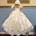 ADK Meninas Do Batismo Do Bebê Vestido de bebê Comprimento Do Pé real personalizado rendas lantejoulas vestido de festa dress meninas aniversário 3 m 6 m 12 m 18 m 24 m