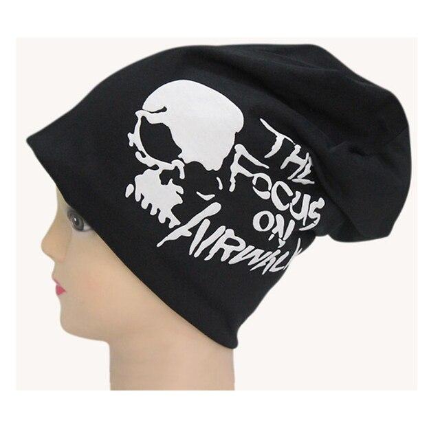 Turban Hip hop dance turtleneck cap fashion pirates hat clothes cotton caps new brand skull Beanies male Skullies female hip hop