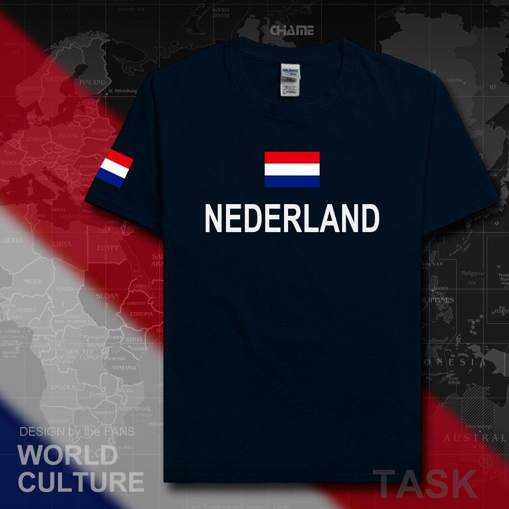 Netherlands Low Countries t shirt man jerseys 2017 t-shirt 100% cotton Dutch nation team sporting meeting fans fitness Holland