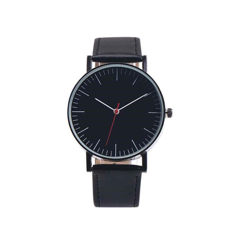 Relógio de pulso de quartzo relógio de pulso feminino reloj mujer # d estilo simples relógios masculinos design retro pulseira de couro analógico liga