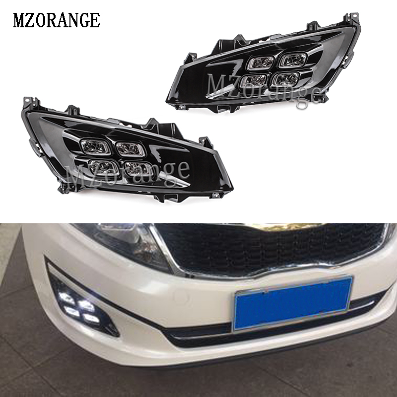 MZORANGE For Kia Optima K5 2010 2014 LED Daytime Running Light Car Accessories Waterproof ABS 12V DRL Fog Lamp Day Light