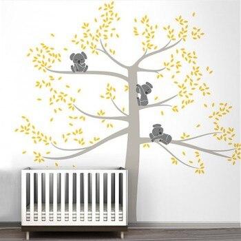 Sticker Mural | Grande Taille Stickers Muraux Arbre Pour Chambre D'enfant Bébé Koala Art Mural Autocollant De Haute Qualité Personnalisé Couleur Mur TattooD503B
