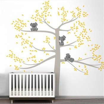 Etiqueta De árbol De Pared | Pegatinas De Pared De Gran Tamaño árbol Para Habitación De Niños Bebé Cuarto De Koala Árbol De La Pared Calcomanía De Alta Calidad Color Personalizado Pared Tatuaje 503b
