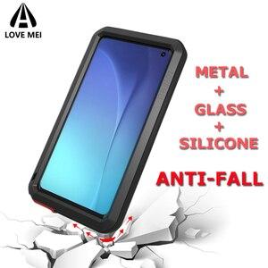 Image 1 - Liefde Mei Brand Case Voor Samsung Galaxy S10 Plus S10E Metal Shockproof Telefoon Cover Voor Samsung Galaxy S10 5G anti Val Armor Case