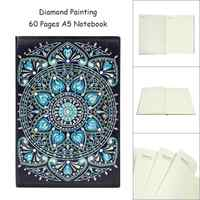 60 Pages A5 Notebook DIY Creative Special Shaped Diamond Painting Notebook Diary Book Embroidery Diamond Cross Stitch Craft Gift