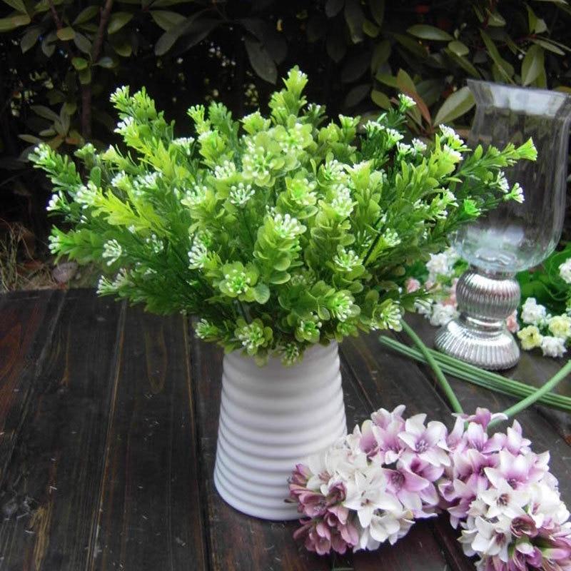 Artificial Plant Flower Green Milan Grass Rare Garden Landscape Fake Flower Home Decor HHY0
