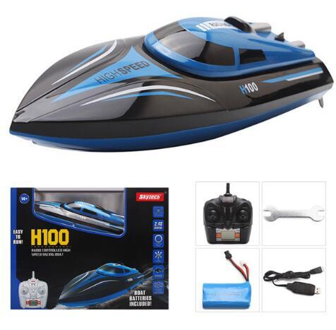 Christmas toy TKKJ H100 2.4G RC Boat 180 Degree Flip High Speed Electric RC Racing Boat for Pools Lakes and Outdoor Adventure