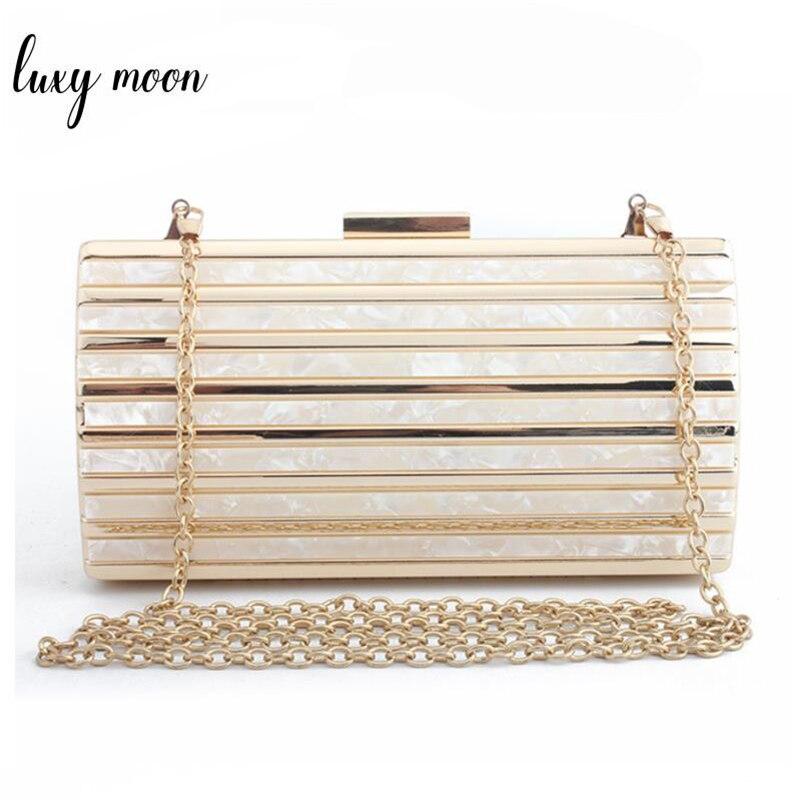 Marbling pattern Day clutch Female Luxury acrylic evening bag party bag clutches chain crossbody Shoulder Bags zd896 bolsa