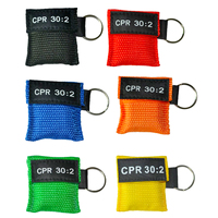 36pcs CPR Resuscitator Mask With Keychain Emergency Survive Skill Training Face Shield Health Care Tool Mix Color