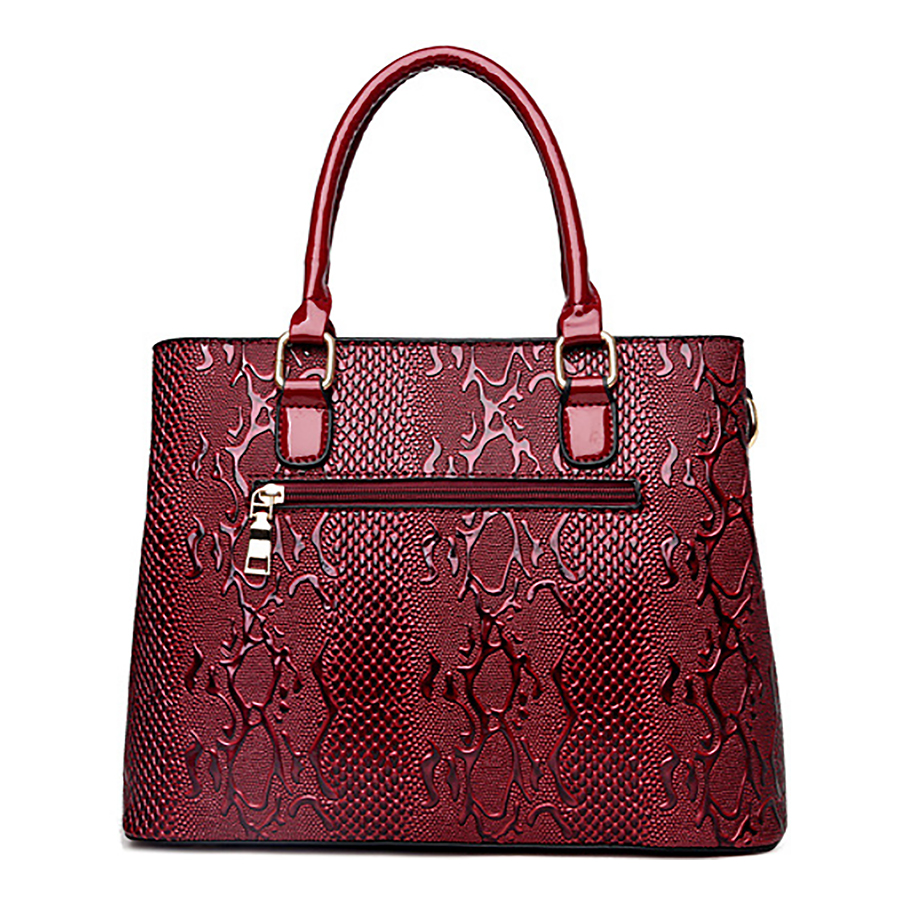 Top Handle Bags for Women 2017 Female Blue Red Patent Leather ...