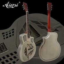 Triolio vingiuotojo plieno korpusas Tricone rezonatoriaus gitaros nemokama gitaros korpuso gitaros juosta A48-SCM