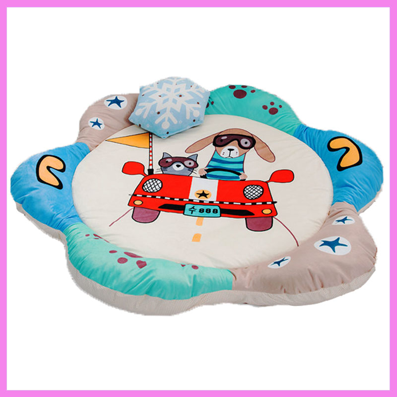Cartoon Baby Crawling Game Blanket Playmat Cotton Padded Climbing Carpet Baby Home Gym Activity Play Mat Kids Ground Play Mat baby play mat plush toy kids game activity toy educational fox elephant crawling rug children play gym carpet infant gift