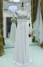Lange Weiß Partei-kleid A-line V-ausschnitt Backless Perlen Und Pailletten Abendkleid Mit Steinen Benutzerdefinierte Größe