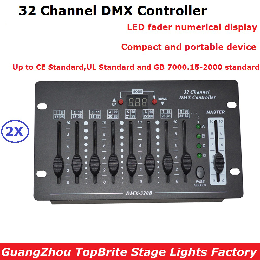 2 Unit 32 Channel DMX Lighting Controller DMX 512 DJ Disco DMX Console Equipments For Stage Party Wedding Events Lighting Shows