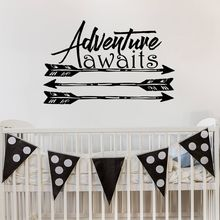 Quote Wall Decals Boho Arrows Sticker Home Decor Adventure Style Art Mural Kids Boys Room Poster AY039