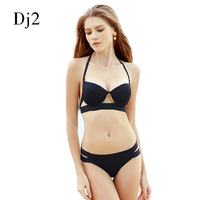 Hot Sale Strappy Bikini 2017 Bandage Bikini Sets Push Up Bra Swimsuit Bathing Suit Brazilian Biquini