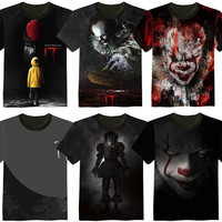2017 Halloween Stephen King S It Lovers Anime Movie Lovely Printing Custom Made T Shirt Tees