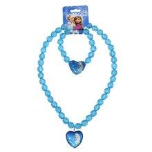 Новое ювелирное ожерелье для маленьких девочек Эльза Анна бусины для детей аксессуары принцессы стиль ожерелье с кулоном Эльза