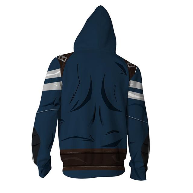 2018 Europe and America Fashion 3D Print Captain America Hoodies Sweatshirts Zip Up Super Hero hooded Jacket Plus Size 5XL