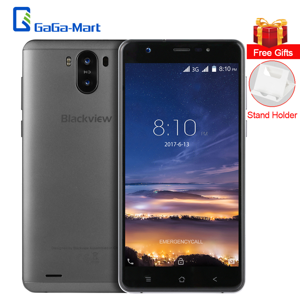bilder für Blackview R6 Lite Smartphone Android 7.0 MTK6580A Quad Core 1 GB RAM + 16 GB ROM 2MP + 8MP Doppelkameras 5,5 Zoll 3000 mAh Handy
