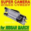 Opinión posterior del coche para Estacionarse en reversa de copia de seguridad de la Cámara Para Nissan March Micra K13 impermeable imagen clara visión HD noche