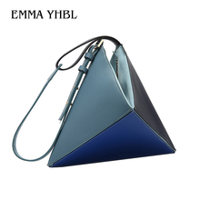 EMMA YHBL  Turkeys new one-of-a-kind multi-colored fashion handbag for women is set summer 2019 Inclined shoulder bag