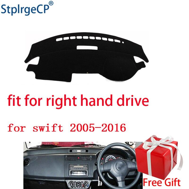 Car Dashboard Cover Mat for Suzuki Swift Sport 2005-2010 Right Hand Drive  Dashmat Pad Dash Mat Covers Dashboard Accessories