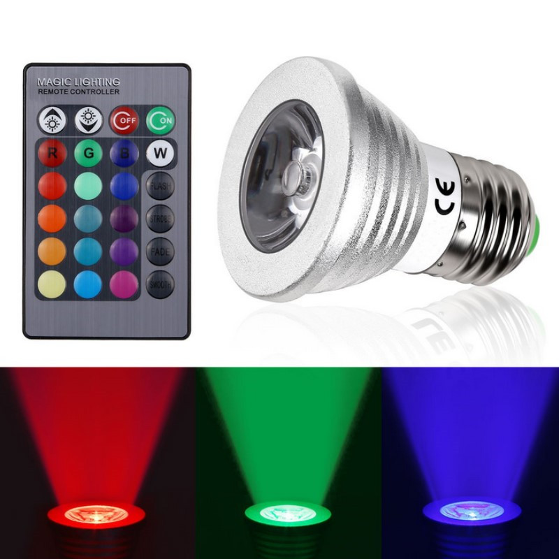 e27 e14 gu10 mr16 rgb led bulb color changeable led spotlight christmas decor magic holiday rgb. Black Bedroom Furniture Sets. Home Design Ideas