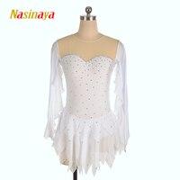 Nasinaya фигурное катание платье заказной конкурс Катание на коньках юбка для девочки Для женщин дети Patinaje гимнастика производительность 104