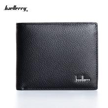 2016 Ny ankomst baellerry korta män plånbok, högkvalitativ topp Äkta läder handväska för man, kort myntväska, fri frakt