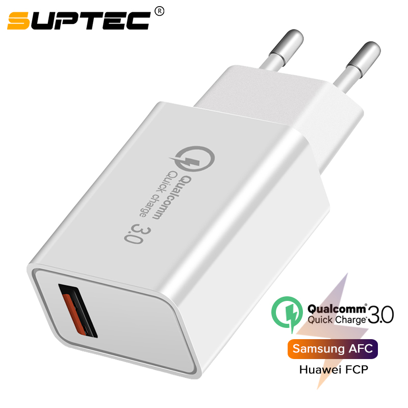 SUPTEC USB Charger Super Fast Charging for iPhone X 8 Xiaomi Quick Charge 3.0 Mobile Phone Charger <font><b>Adapter</b></font> for Samsung S9 <font><b>Huawei</b></font> image