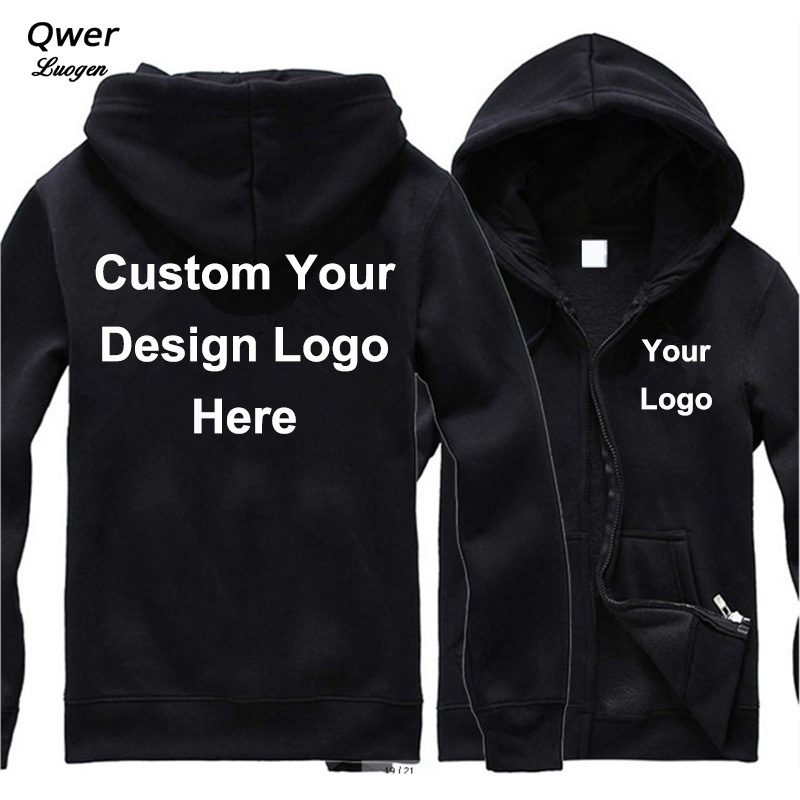 Drop Shipping VIP DIY Custom Logo And Design Hoodie Mens Women Jacket Fashion Costume Coat Unisex