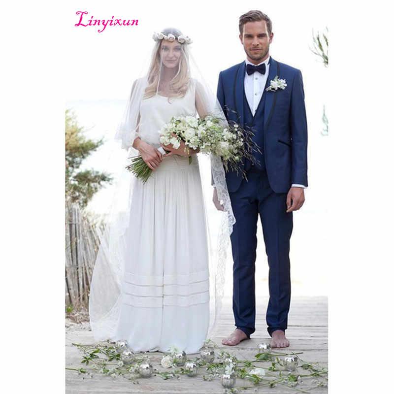 Linyixun 2018 أحدث معطف بانت تصاميم الأبيض الرجال دعوى يتأهل 3 قطعة رجل سهرة خياط العريس prom الزفاف terno
