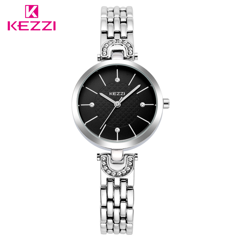 KEZZI Small Round Dial Women Alloy Quartz Female Watch Famous Luxury Brand Simple Casual Ladies Wrist Watches For Gilrs Clocks hot sales kezzi brand luxury bracelet watches women fashion design quartz wristwatches love shape dial female gift clocks