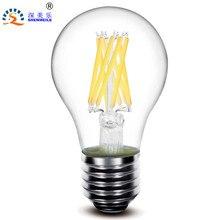 1pcs RXR A19 A60 E26 E27 2w 4w 6w 8w dimmable 360Degree Glass Clear Edison retro LED filament lamps bulb light  220V 110V AC CE