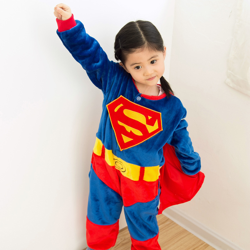 Kids Baby Boys Girls Superhero Capes Cartoon Onesies ...