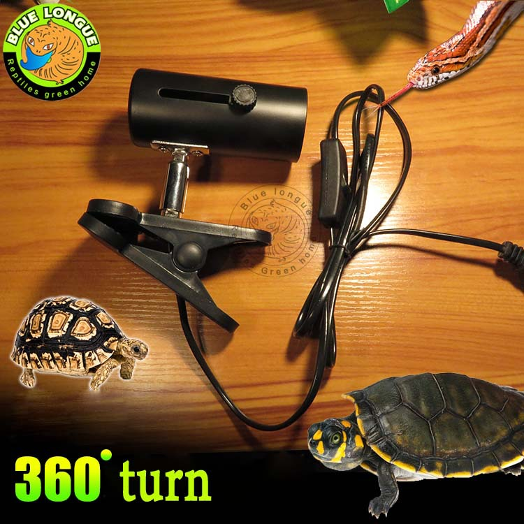 Aquarium Reptile Light Holder Clamp Infrared Emitter Heat Lamp Stand high temperature resistance (EU to US plug switch free) pet light infrared ceramic heat emitter lamp bulb for reptile amphibian warmer glow brooder 100w new
