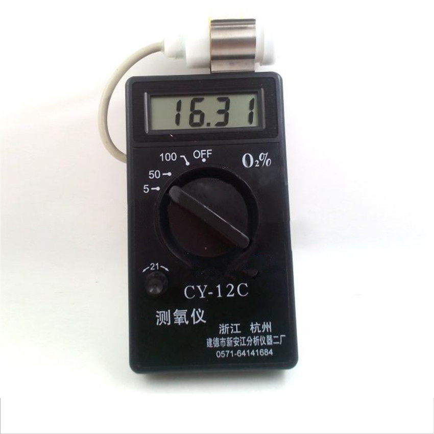 New Professional Handheld Portable O2 Oxygen Concentration Content Tester High Accuracy Meter Detector CY-12C Gas Analyzer spd201 digital oxygen meter o2 meter gas analyzer gas detector alarm o2 monitor gas tester oxygen concentration meter 0 25%