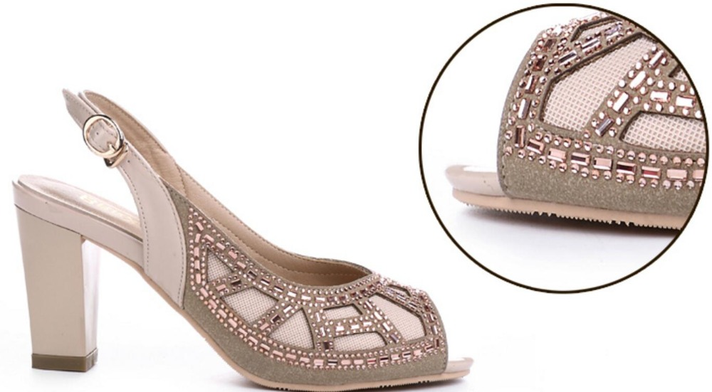 76076709a96 ... with summer fashion sandals mouth leather real wedding sh fish drill  the ladies  chunky new ...