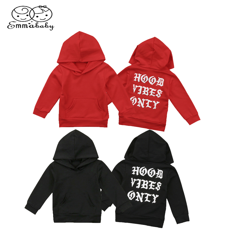Emmababy Autumn Toddler Clothing Baby Boys Girls Casual Hoodie Tops Hooded Sweatshirt Outdoor